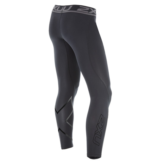 2XU Accelerate Compression Mens Tights (Black-Nero)