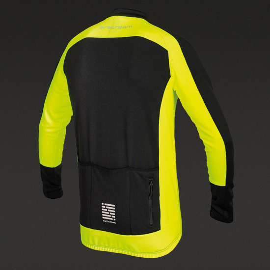 Altura Airstream Long Sleeve Jersey (Black-Yellow)
