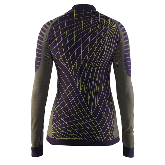 Craft Active Intensity Womens Long Sleeve Top (Rich Purple-Golden Sand)