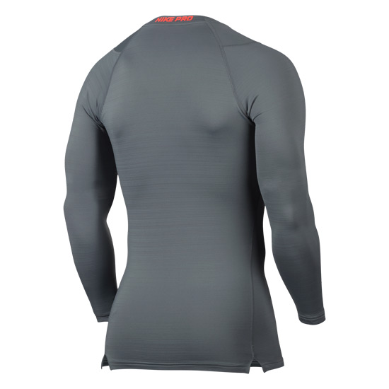 Nike Pro Warm Mens Longsleeve Compression Top (Grey)