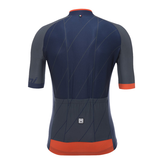 Santini Ace Mens Short Sleeve Jersey (Nautica Blue)