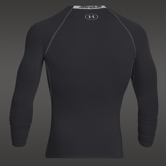 Under Armour HeatGear Compression Mens LS Shirt (Black-Steel)