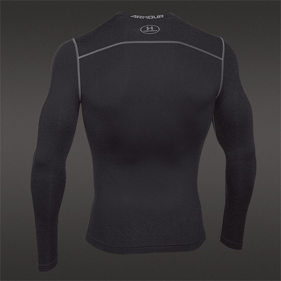 Under Armour ColdGear Mens Compression Crew Top (Black)