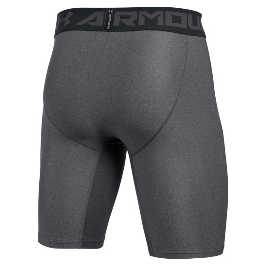 Under Armour HeatGear Compression 2.0 Mens Long Shorts (Carbon Heather-Black)