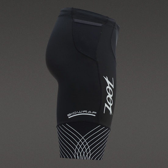 "Zoot Ultra-Run BioWrap Mens 9"" Shorts (Black-Silver)"