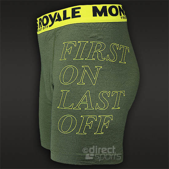 Mons Royale Mens Fitted Boxer (Military)