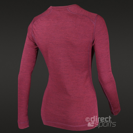 Smartwool Midweight Womens long Sleeve Crew (Red Wine)