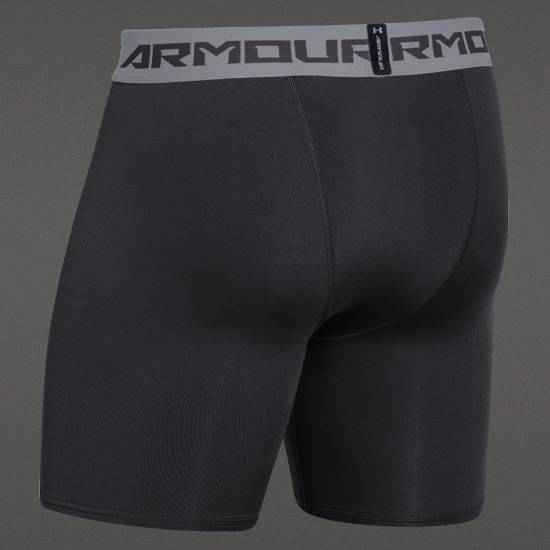 Under Armour HeatGear Compression Mens Shorts (Black-Steel)