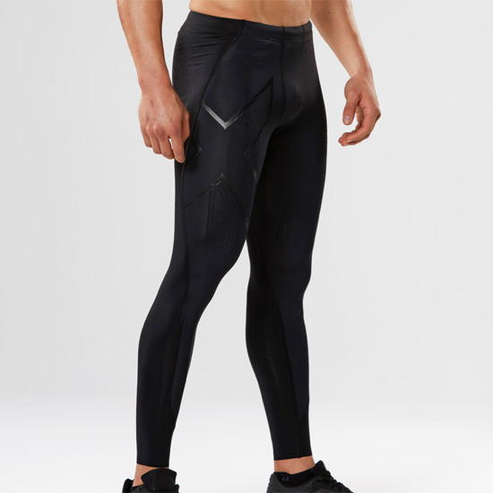 2XU Elite X-Fit Compression Mens Tights (Black-Nero)