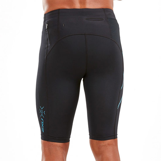 2XU MCS Run Mens Compression Shorts (Black-Corsair Reflective)