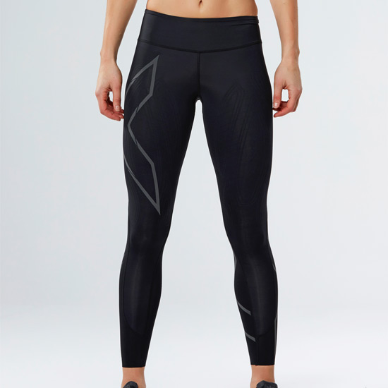 2XU MCS Run Compression Womens Tights (Black-Nero)