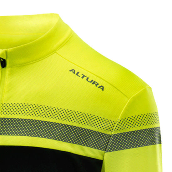 Altura Nightvision Mens Short Sleeve Jersey (Hi-Viz Yellow-Black)