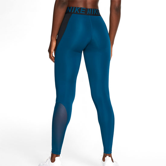 Nike Pro Womens Tights (Black-Valerian Blue-White)