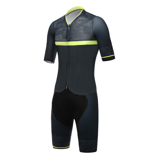 Santini River Road Mens Skin Suit (Yellow)