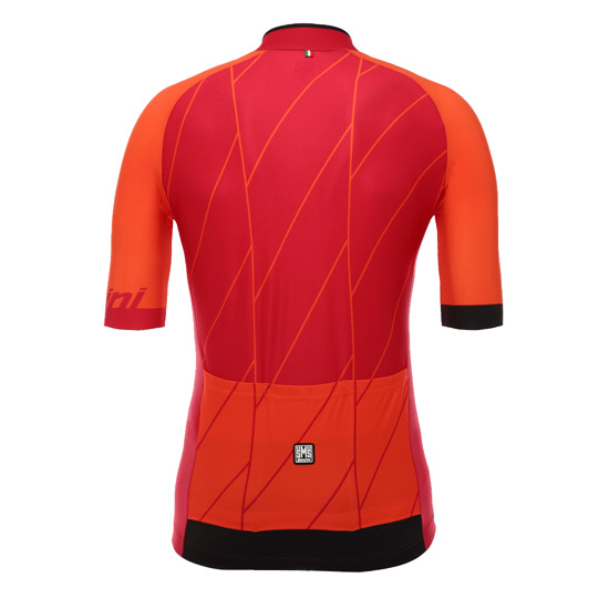 Santini Ace Mens Short Sleeve Jersey (Red)