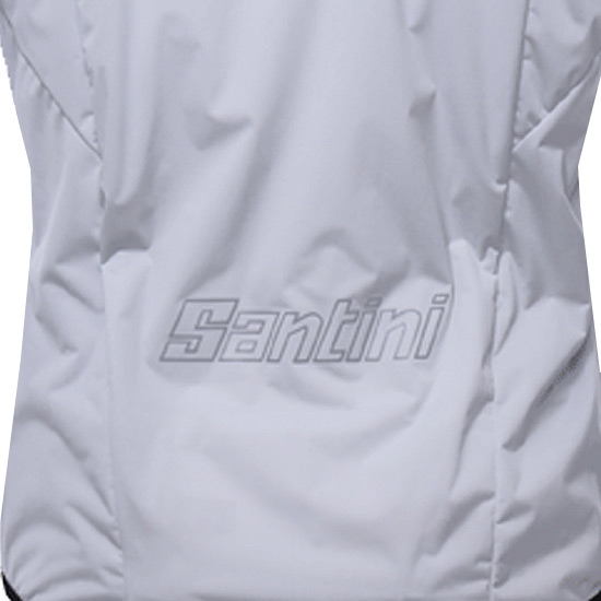 Santini Scudo Mens Windbreaker Jacket (White)