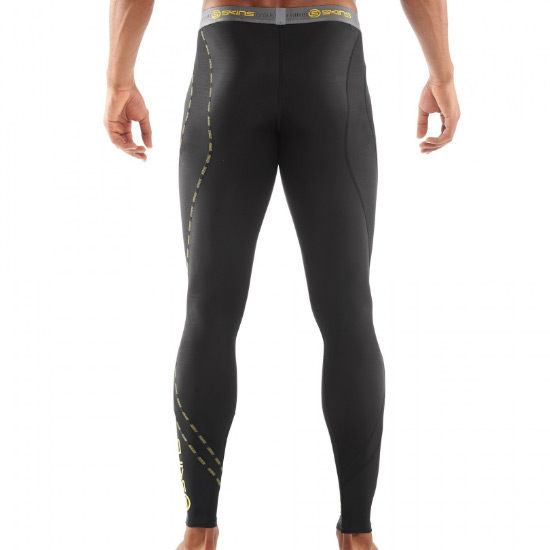 Skins DNAmic Core Mens Compression Long Tights (Black)