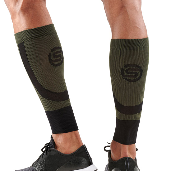 Skins Unisex Seamless Compression Calf Tights (Black-Utility)