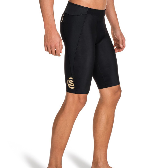 Skins A400 Mens Compression Half Tights (Black)
