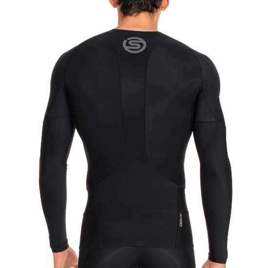Skins A400 Mens Compression Long Sleeve Top (Black)