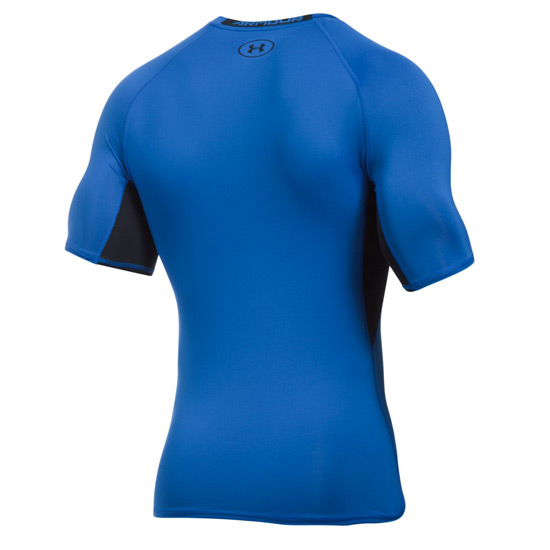 Under Armour HeatGear Compression Mens Shirt (Blue Marker-Black)