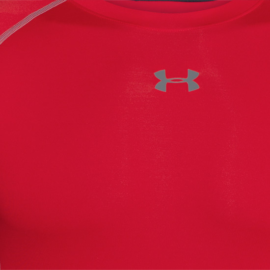 Under Armour HeatGear Compression Mens LS Shirt (Red-Steel)