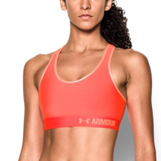 Under Armour Heat Gear Mid Impact Bra (Afterburn)