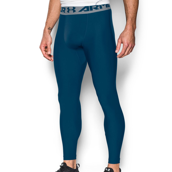 Under Armour HeatGear Compression 2.0 Mens Legging (Blackout Navy-Steel)