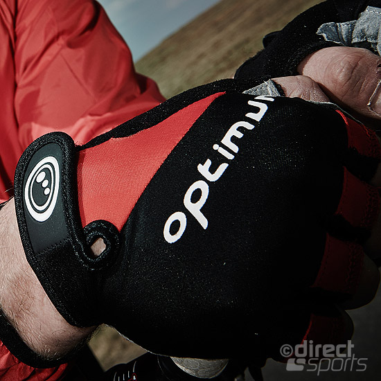 Optimum Hawkley Half Finger Glove (Black-Red)
