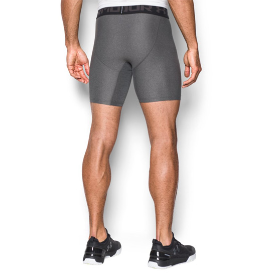 Under Armour HeatGear Compression 2.0 Mens Shorts (Carbon Heather)