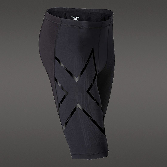 2XU Elite MCS Compression Mens Short (Black-Nero)