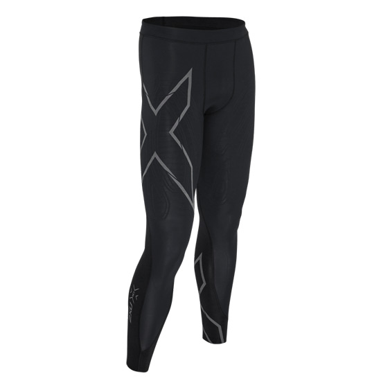 2XU MCS Run Compression Mens Tights (Black-Nero)