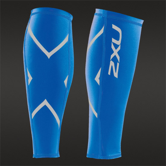 2XU Compression Calf Guards (Royal Blue)