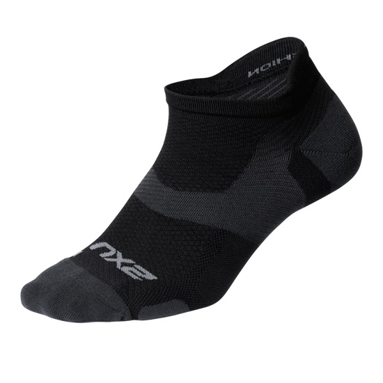 2XU Vectr Light Cushion No Show Socks (Black-Titanium)