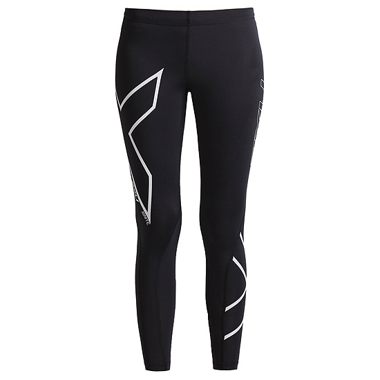 2XU Womens Ignite Compression Tights (Black-Silver)