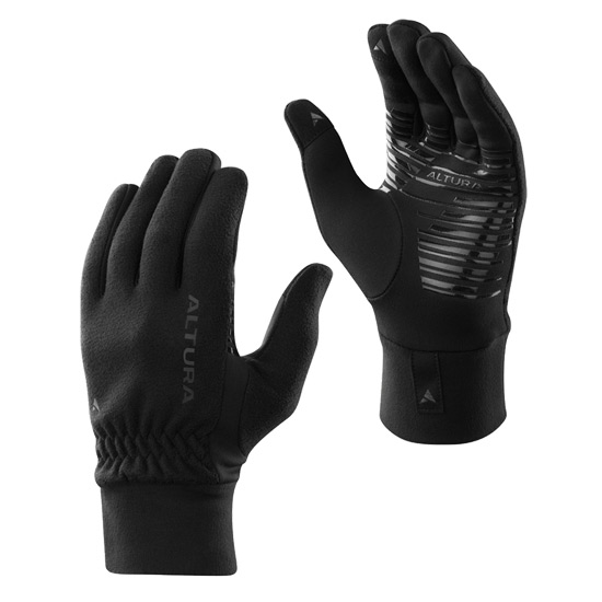 Altura Microfleece Windproof Gloves (Black)