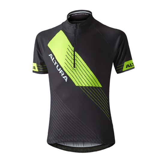 Altura Sportive Junior Short Sleeve Jersey (Black-Yellow)