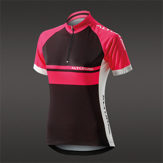 Altura Team Womens Short Sleeve Jersey (Pink-Black)