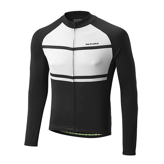 Altura Airstream 2 Mens Long Sleeve Jersey (Black-White)