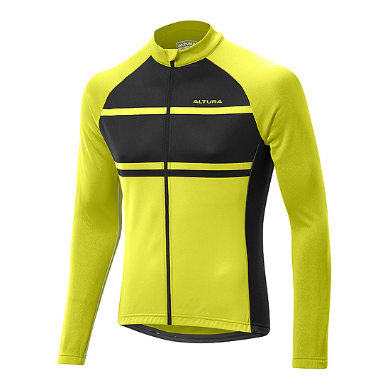 Altura Airstream Mens Long Sleeve Jersey (Black-Yellow)