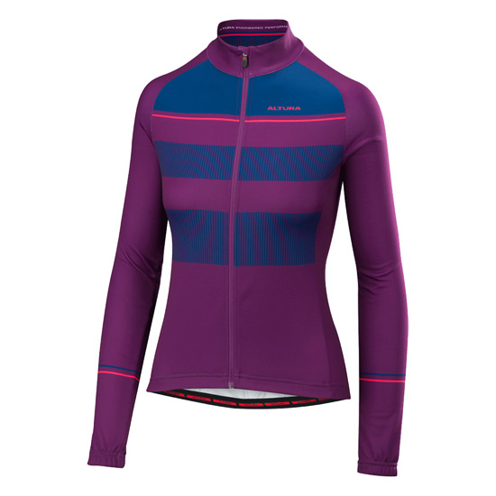 Altura Airstream Long Sleeve Womens Jersey (Purple-Blue)