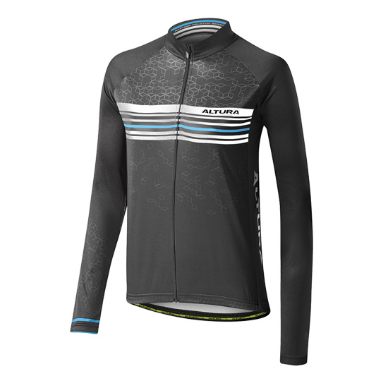 Altura Sportive Team Long Sleeve Womens Jersey (Black-Dynamic Blue)