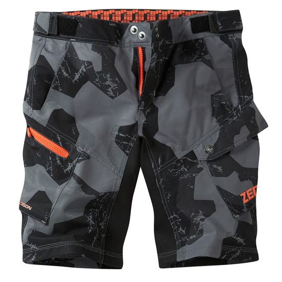 Madison Zen Junior Shorts (Grey Camo)