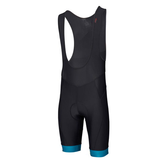 Madison Sportive Mens Bib Shorts (Black-Blue)