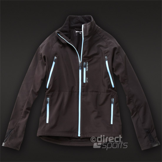 Madison Flux Womens Softshell Jacket (Black-Blue)