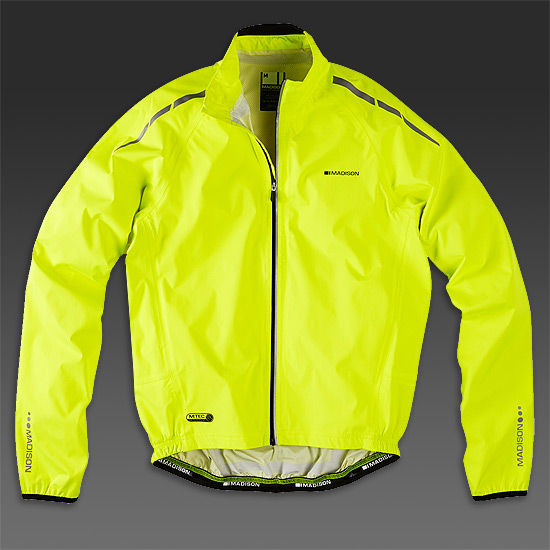 Madison Shield Mens Waterproof Jacket (Hi-Viz Yellow)