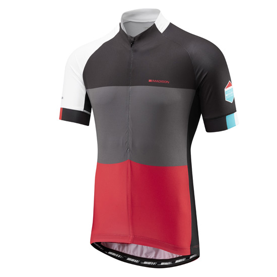 Madison Sportive Mens Short Sleeve Jersey (Red)