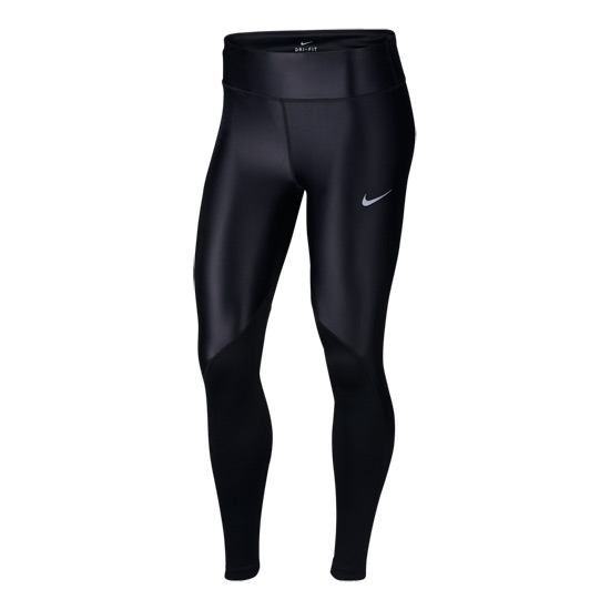 Nike Fast Womens Running Tights (Black-Reflective Silver)