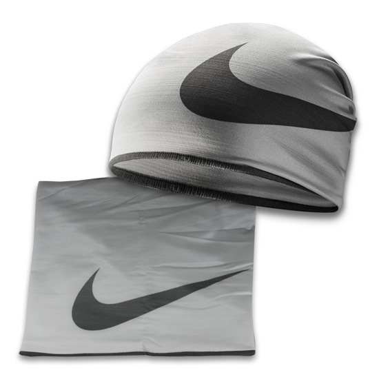 Nike Convertible Neck Warmer (Cool Grey)