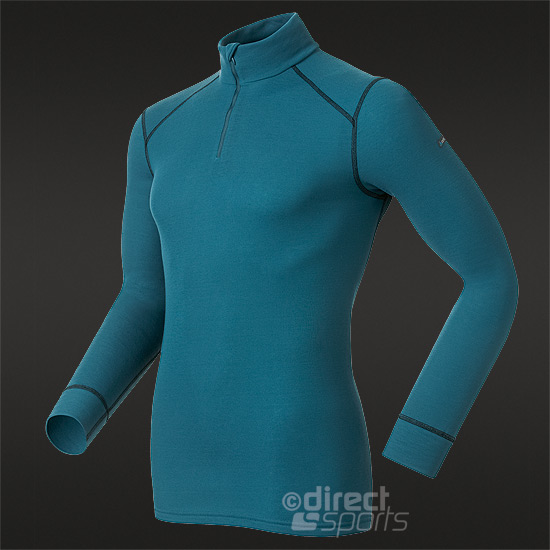 Odlo Warm Long Sleeve Mens Turtle Neck (Blue Sapphire)